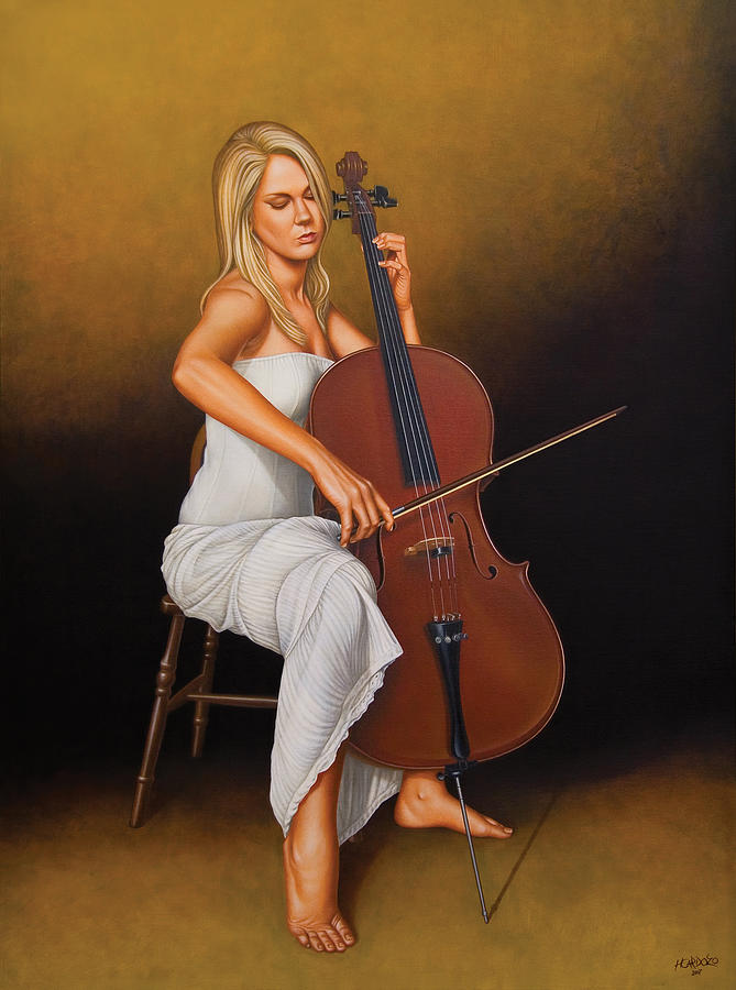 Woman Painting - With Music In Her Soul by Horacio Cardozo