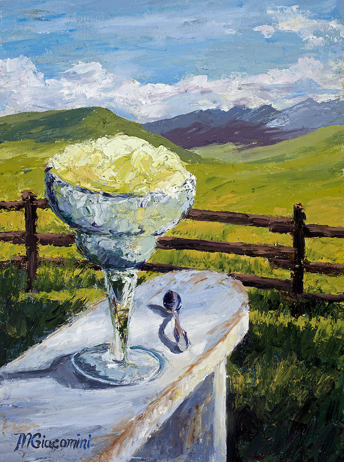 Oil Painting - With Salt by Mary Giacomini