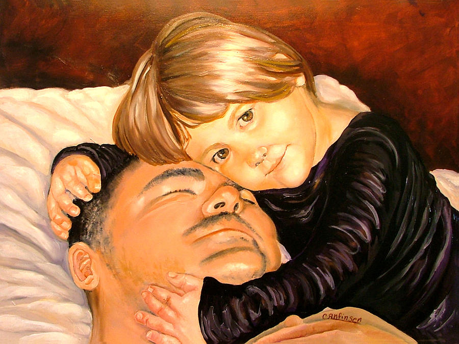 Child Painting - With These Hands--Love by Carol Allen Anfinsen