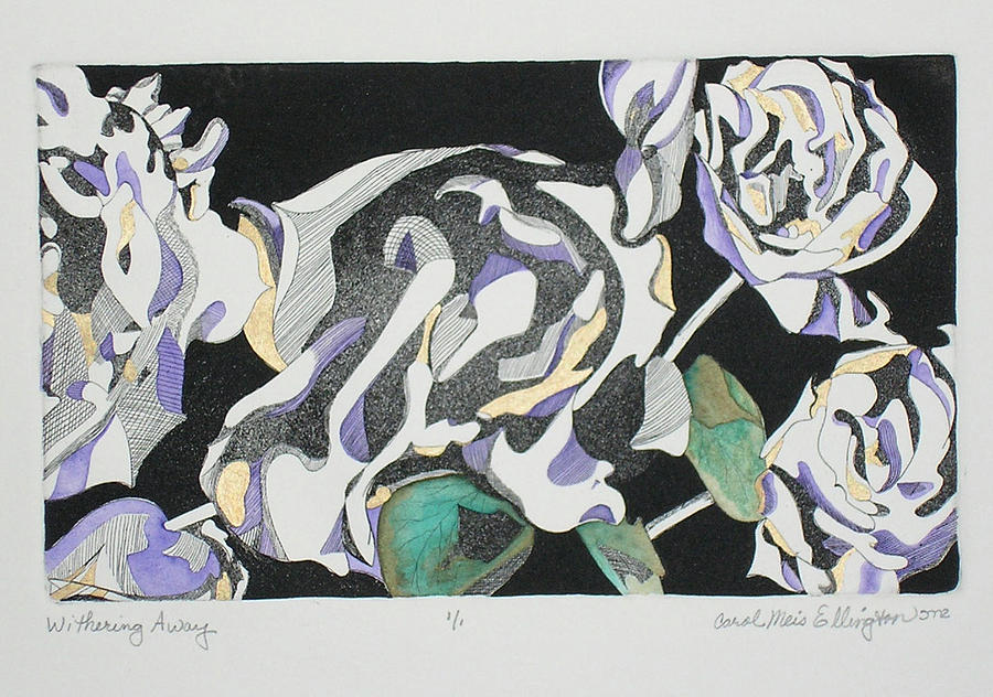 Flowers Print - Withering Away by Carol meis Ellington