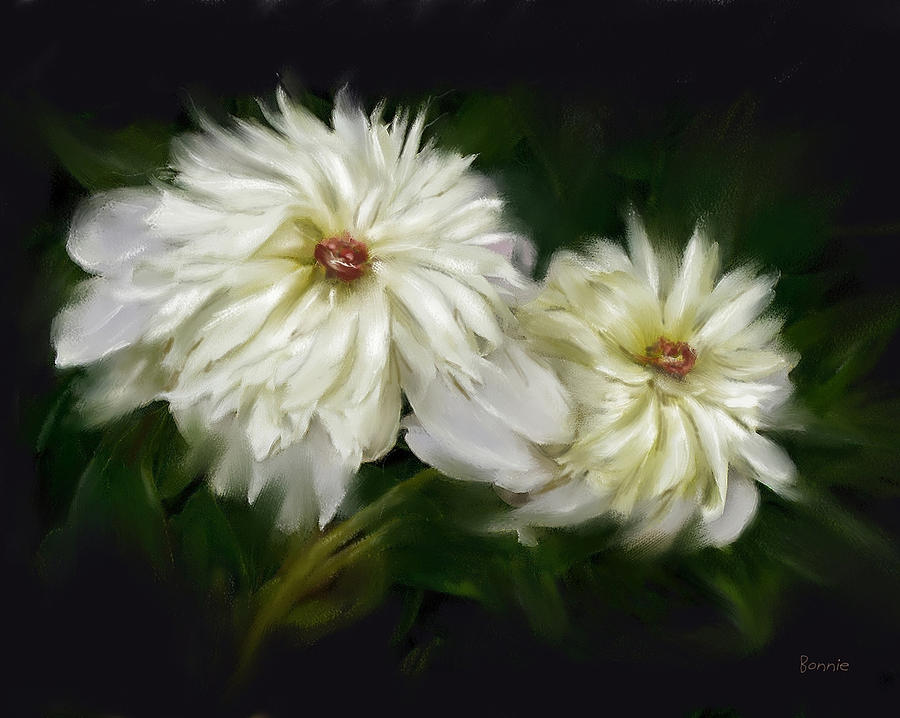 Peony Painting - Withering Peony by Bonnie Willis