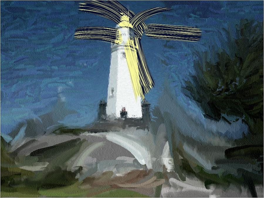 Withernsea Lighthouse Painting by Phil Ward