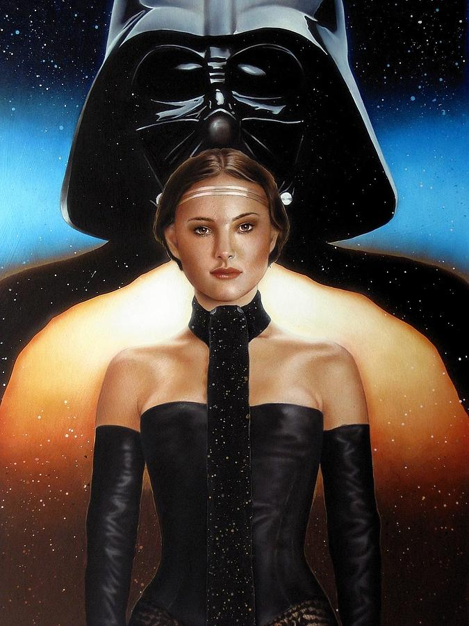 Star Wars Painting - Without Words by Manfred Burgard