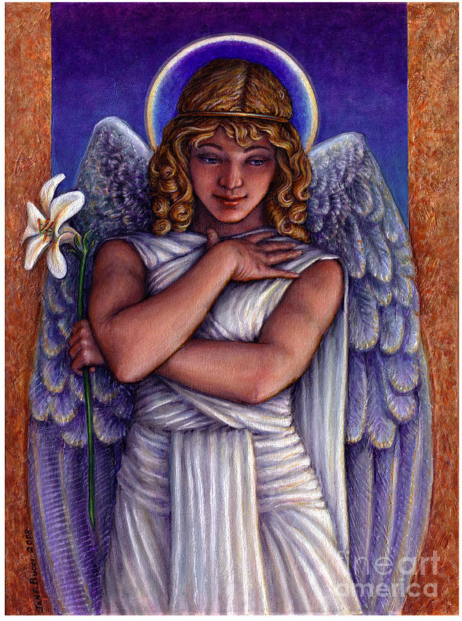 Angel Painting - Witness To Perfection by Jane Bucci