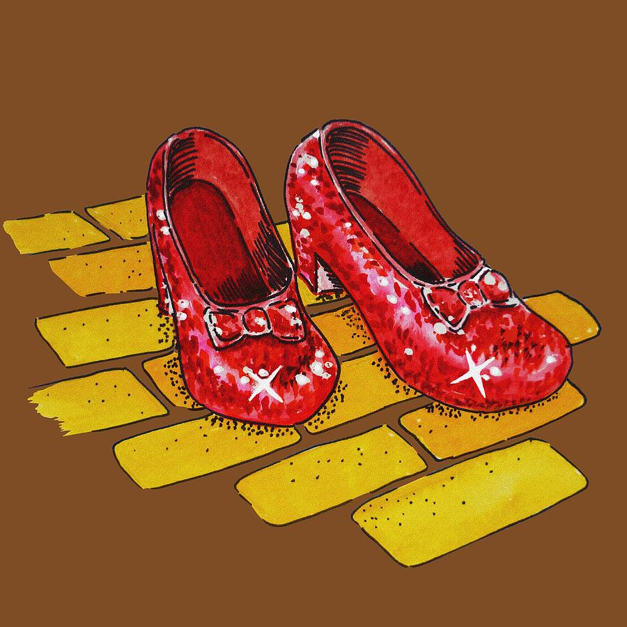Wizard Of Oz Red Shoes Drawing