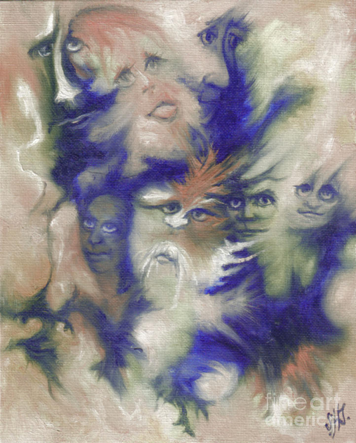 Mystical Painting - Wizards Dream by Stephanie  H Johnson