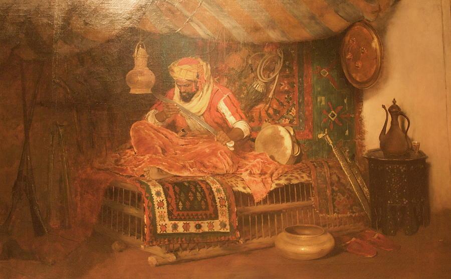 Man Painting - Wla Brooklynmuseum William Merritt_chase_the_moorish_warrior by Wla Brooklynmuseum William