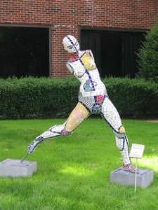 Figure Sculpture - Wo-man by Ellen Nora Goldstein