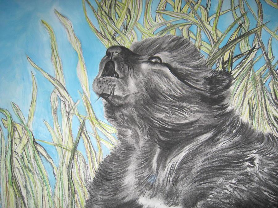 Wolf Cub Painting - Wolf Cub by Theodora Dimitrijevic