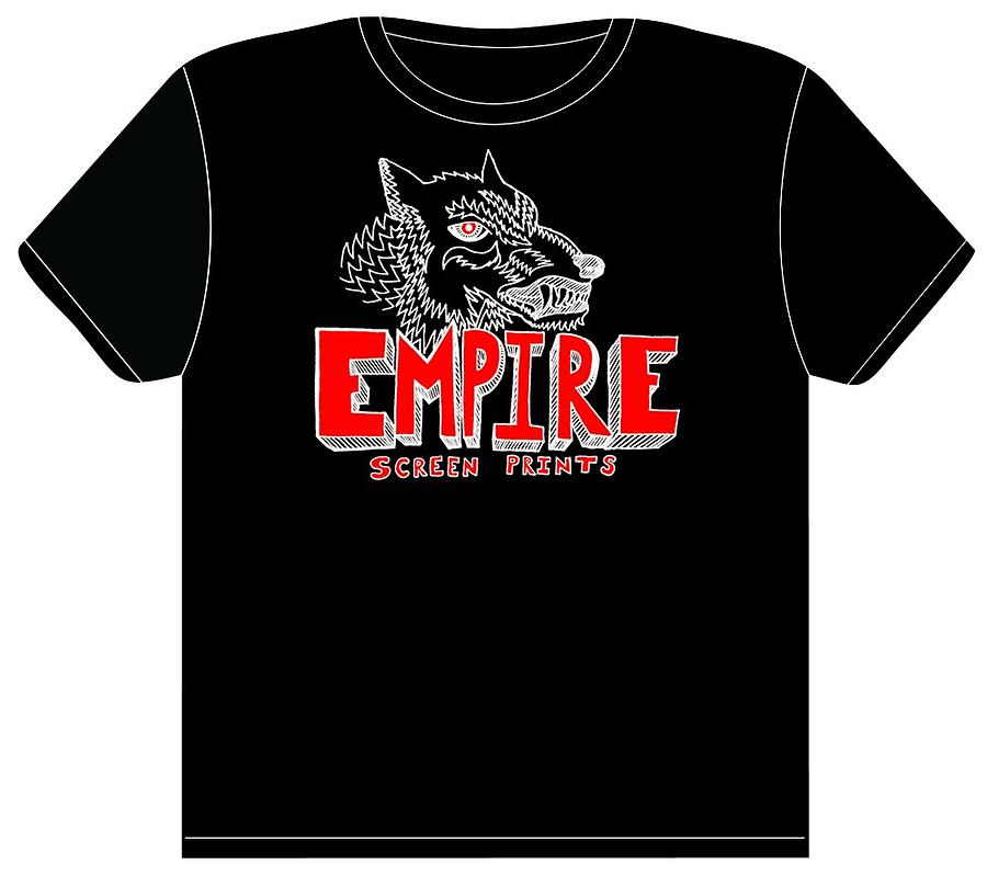 Empire Tapestry - Textile - Wolf Face T-shirt by John  Stidham