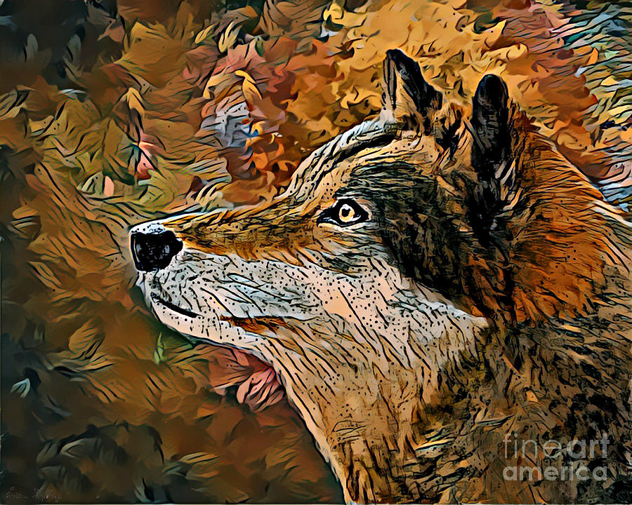 Wolf Painting - Wolf by Lita Kelley