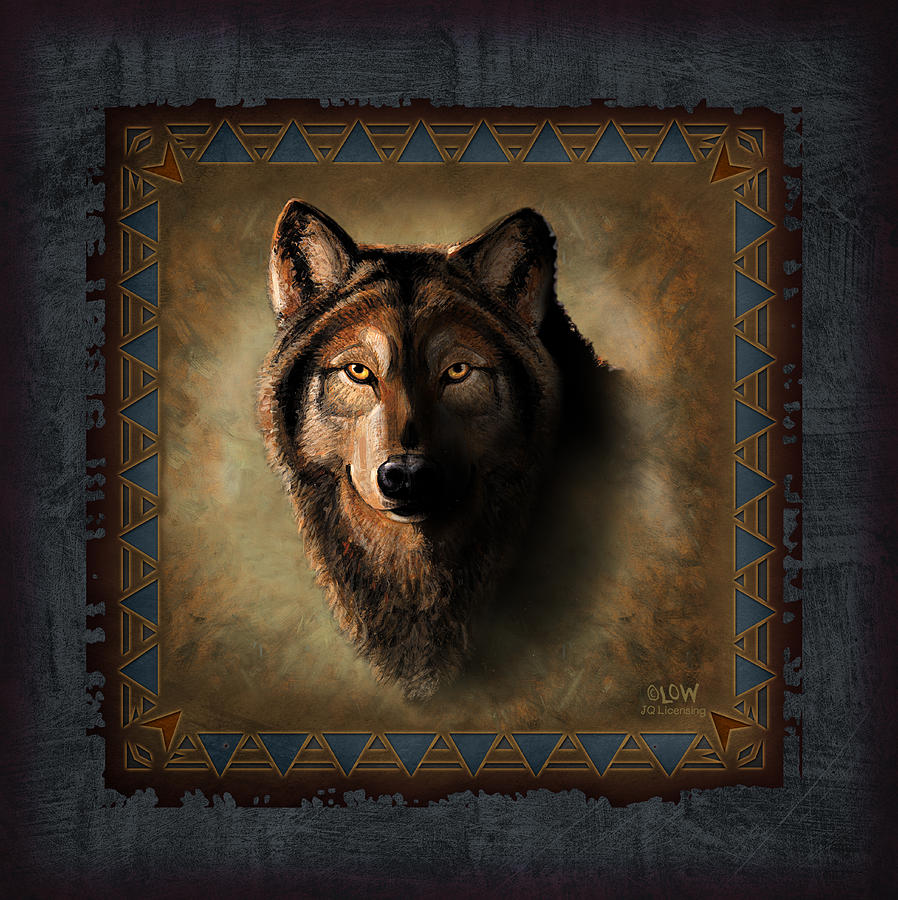Wildlife Painting - Wolf Lodge by JQ Licensing