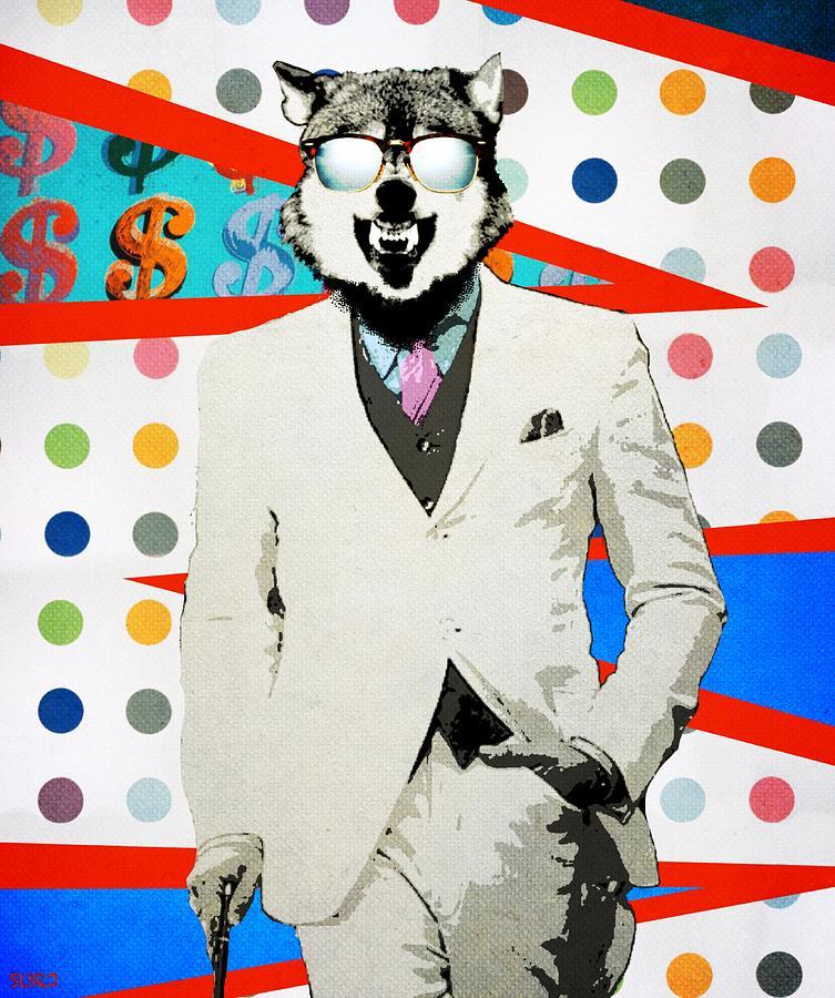 Wolf Of Wall Street Mixed Media by Surj LA