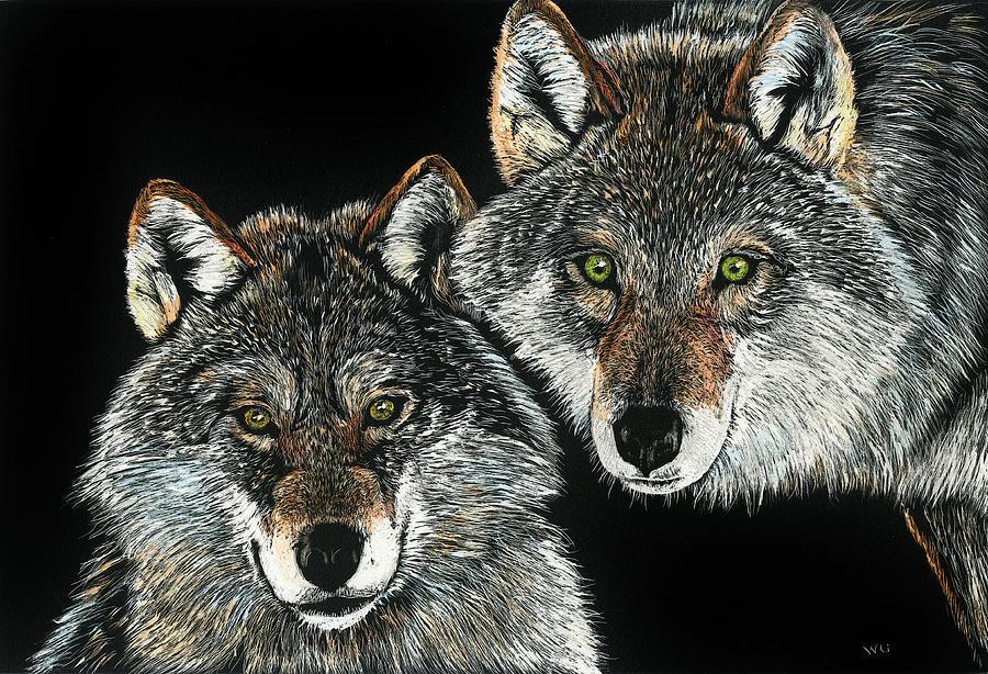 Wolf Pair by William Underwood
