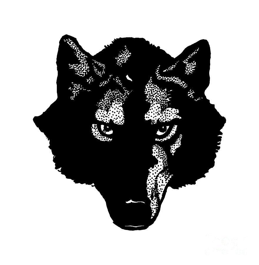 Pack Digital Art - Wolf Tee by Edward Fielding