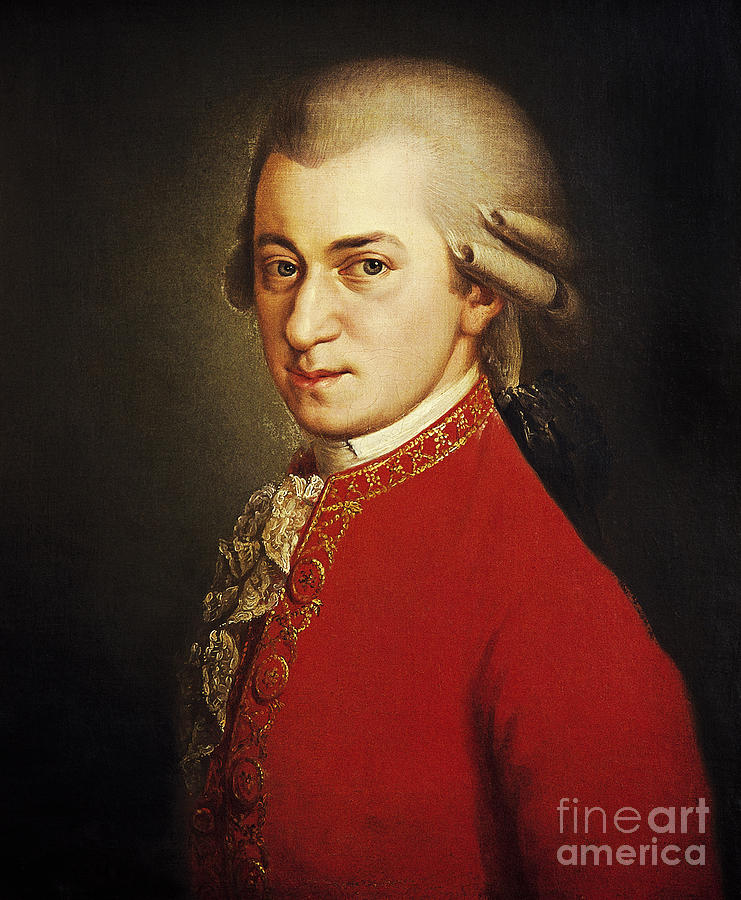 History Photograph - Wolfgang Amadeus Mozart, Austrian by Photo Researchers