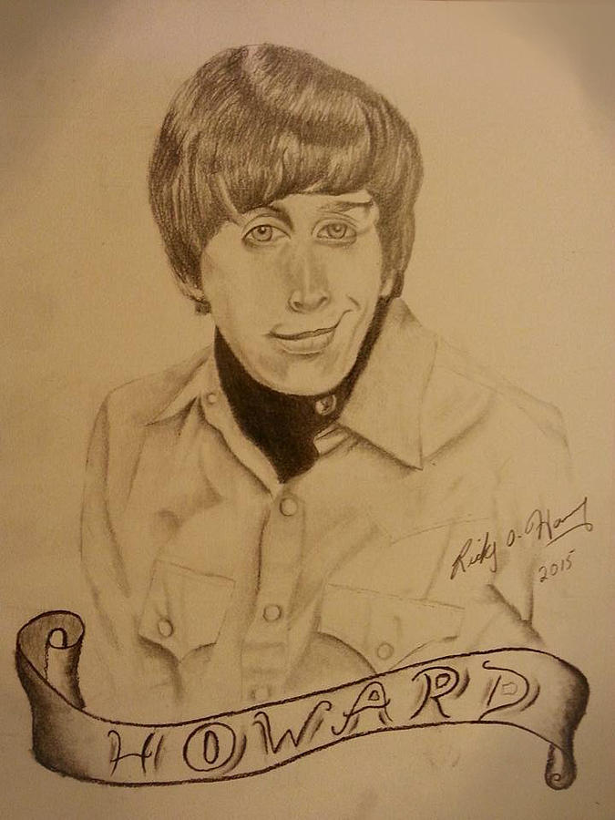 Drawing Drawing - Wolowitz by Ricky Haug
