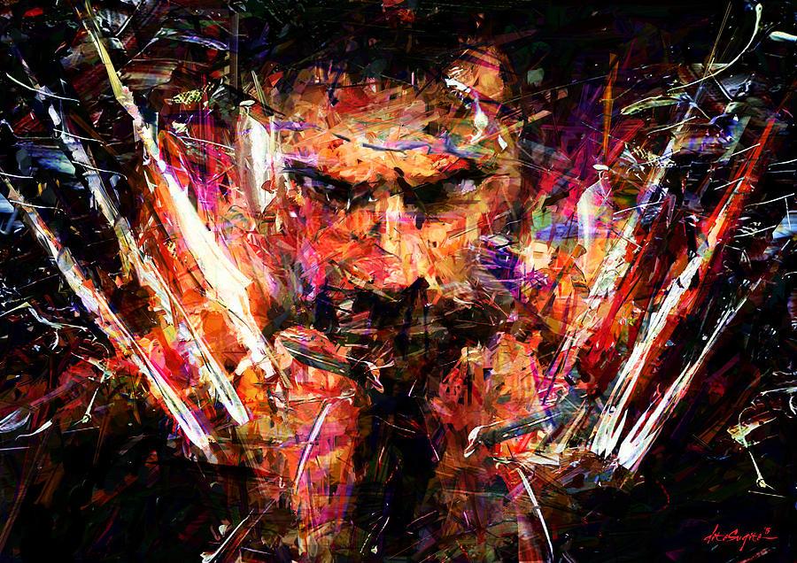 Superhero Digital Art - Wolverine by Dito Sugito