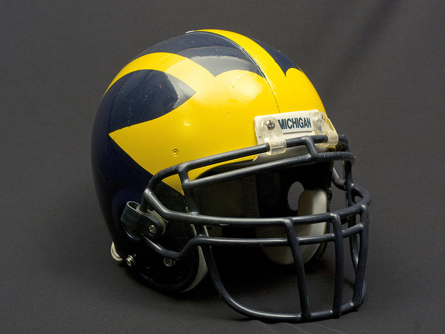 Wolverine Helmet of the 2000s Era by Michigan Helmet