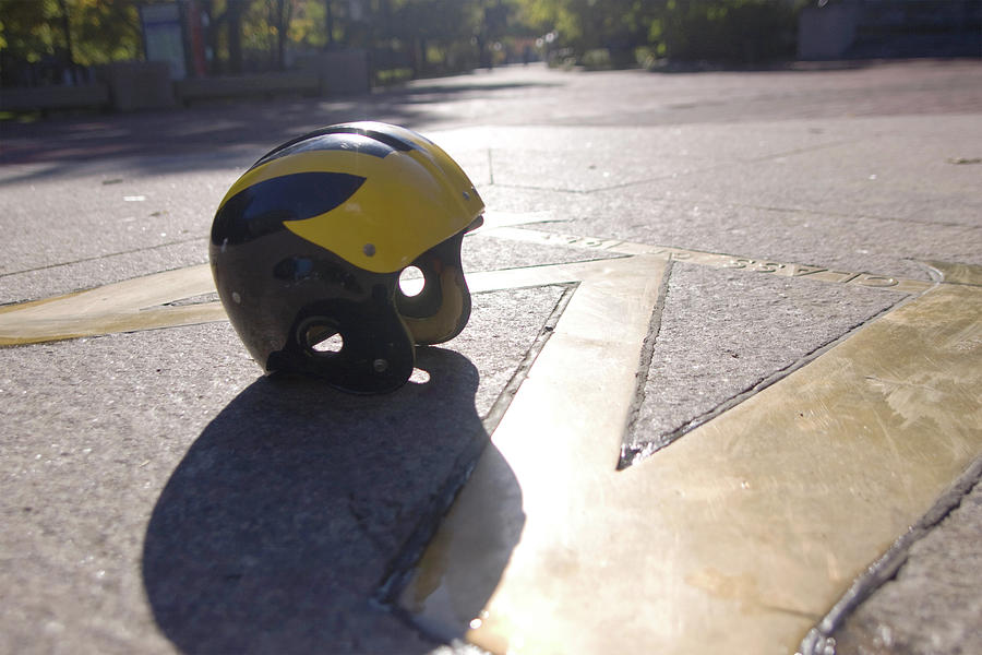 Wolverine Helmet on the Diag by Michigan Helmet