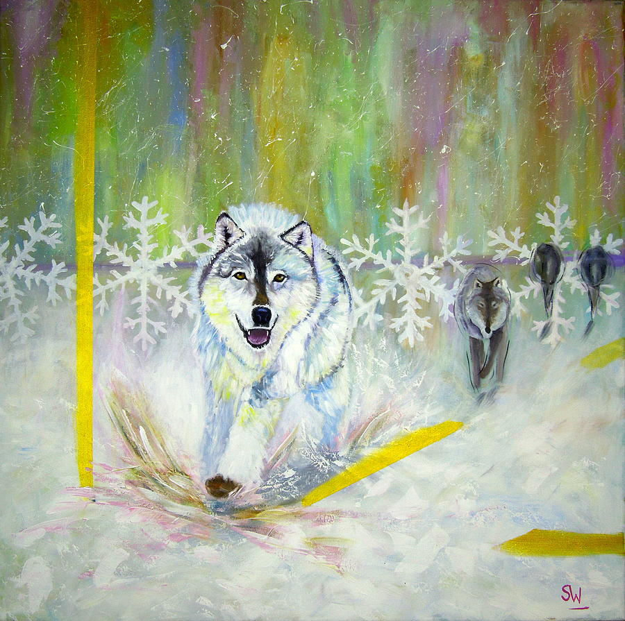 Wolves approach by Shirley Wellstead