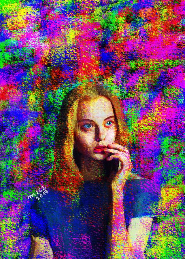 Woman Painting - Woman 378 by Maciej Mackiewicz