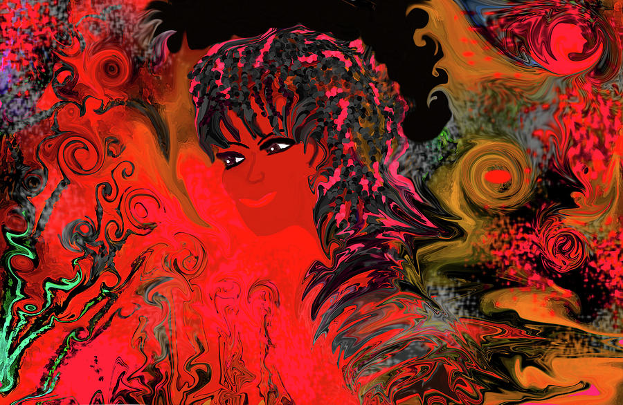 Brazilian Digital Art - woman art Beautiful Brazilian Woman by Sherris - Of Palm Springs