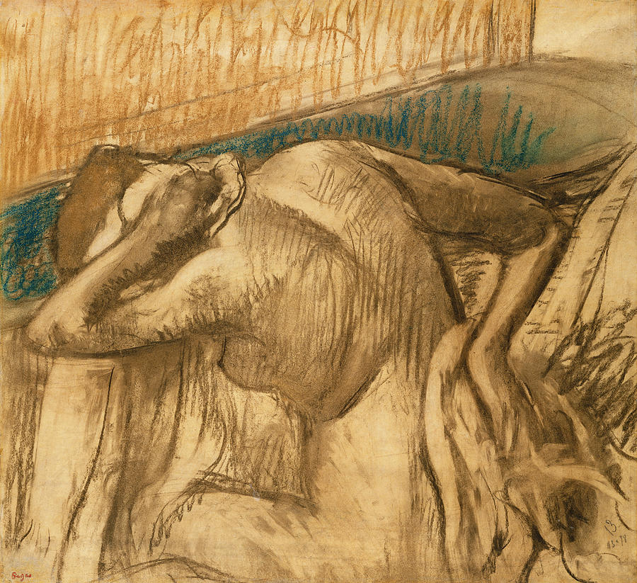 Woman Pastel - Woman At Her Toilet by Edgar Degas