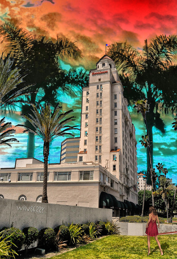 Long Beach Digital Art - Woman At The Breakers by Bob Winberry