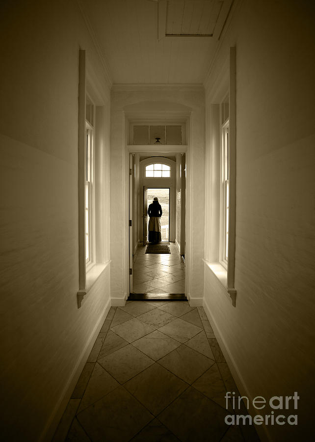 Door Photograph - Woman At The Door by Timothy Johnson