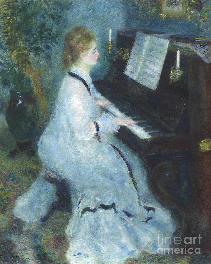 Renoir Painting - Woman At The Piano by Pierre Auguste Renoir