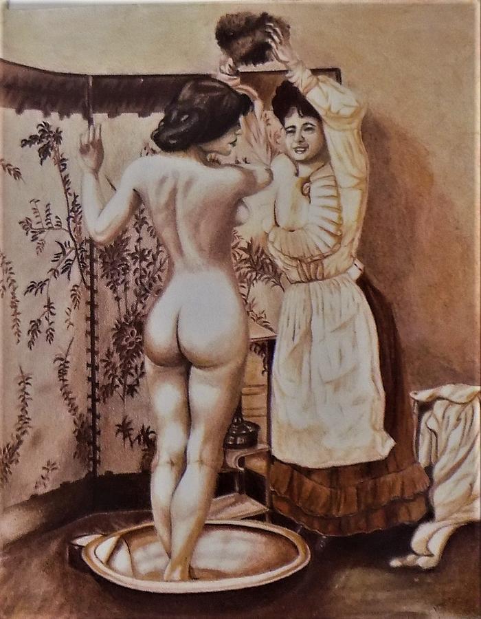 woman bathing by Chuck Caputo