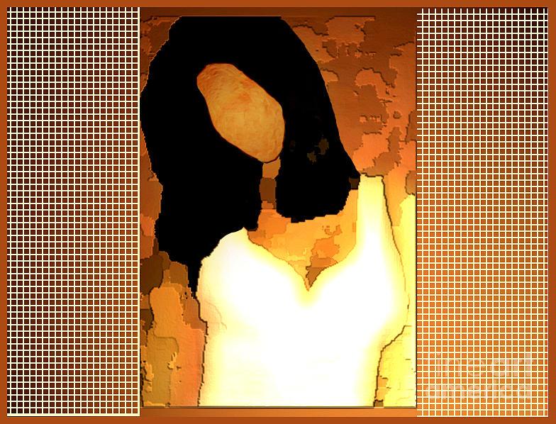 Woman Digital Art - Woman Behind The Window by Aline Pottier  Gama Duarte