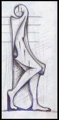 Fall Down Drawing - Woman Cry by Ebrahim Metwaly