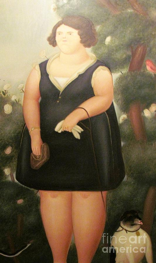 woman in Black Botero by Ted Pollard