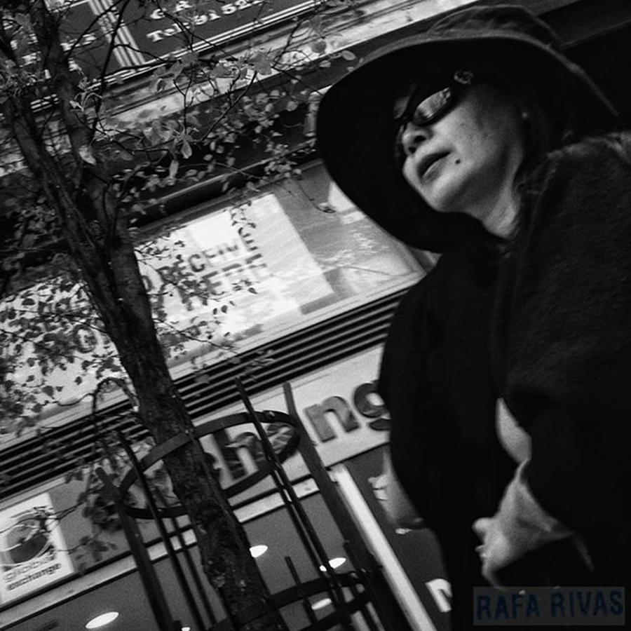People Photograph - Woman In Black  #woman #lady #hat by Rafa Rivas