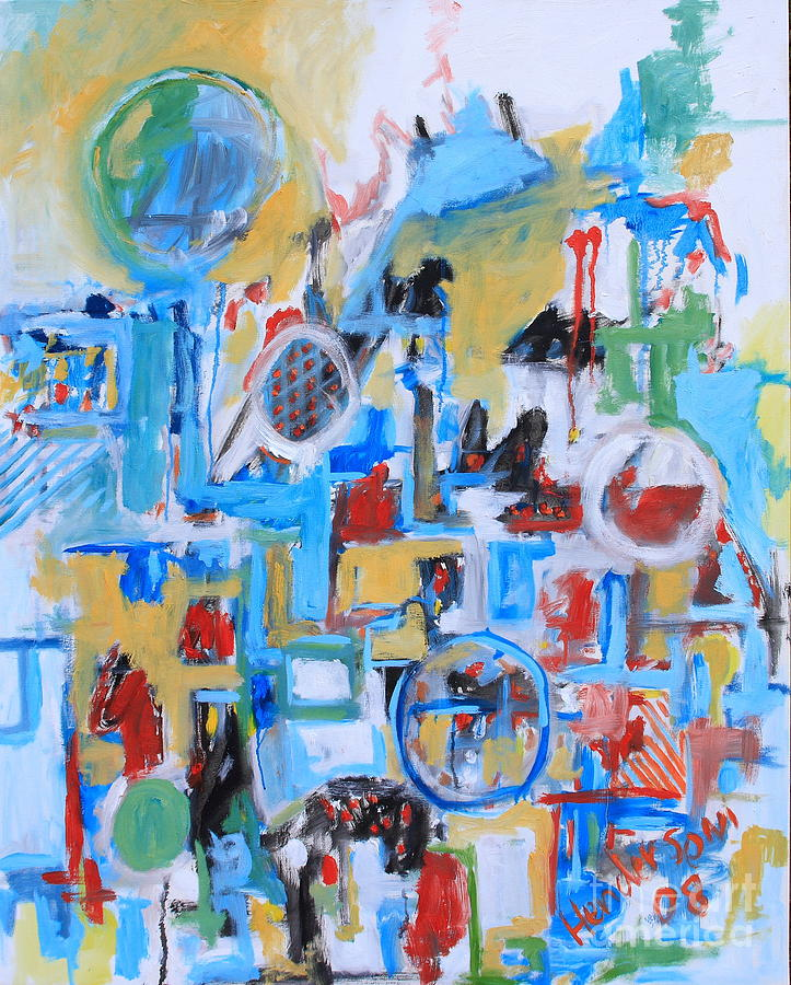 Abstract Painting - Woman In Blue by Michael Henderson