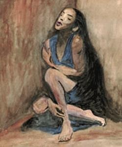Woman Painting - Woman In Corner by Sue Gordon