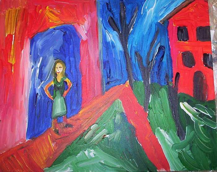 Woman In Doorway Painting by John Bisbee