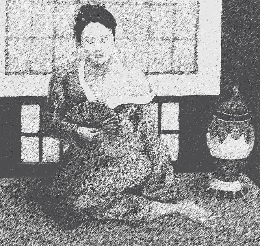 Woman In Kimono Digital Art by Don Perino