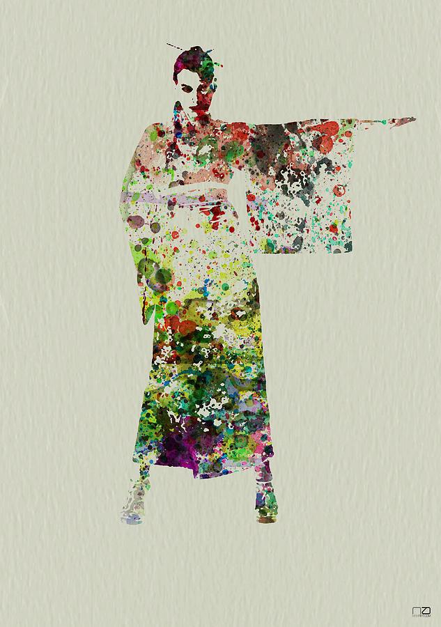Kimono Painting - Woman In Kimono by Naxart Studio