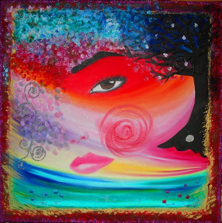 Love Painting - Woman In Love by Sofia Sanzari