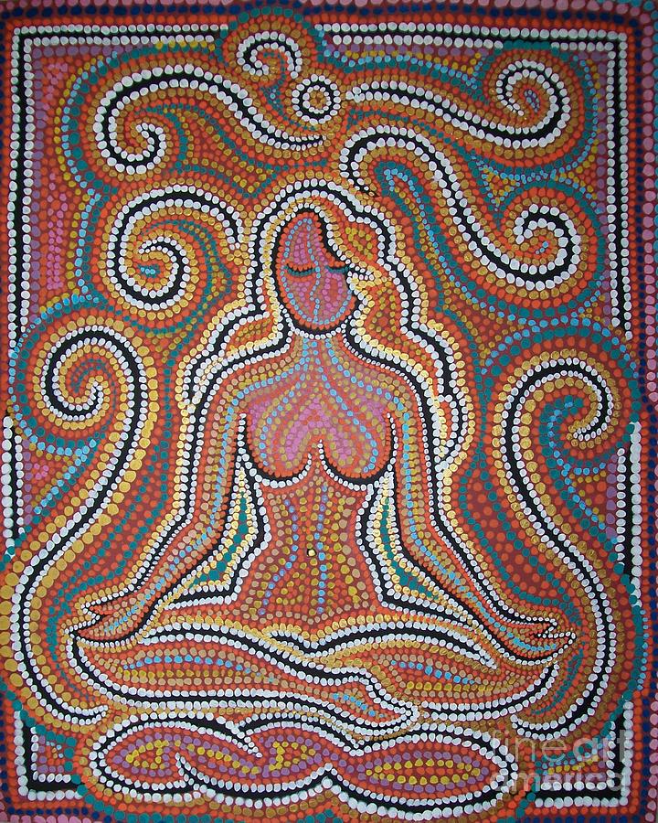 Female Painting - Woman In Meditative Bliss by Carola Joyce
