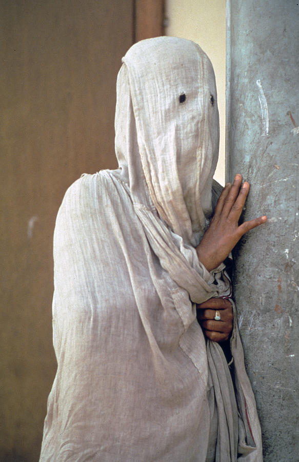 woman in purdah photograph by carl purcell