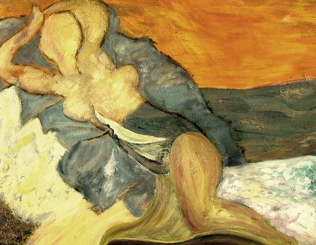Nude Painting - Woman In The Beach by Mauro Longordo