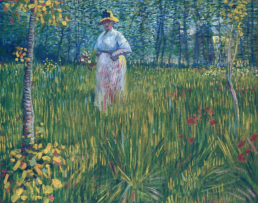 Woman In The Garden Painting By Vincent Van Gogh