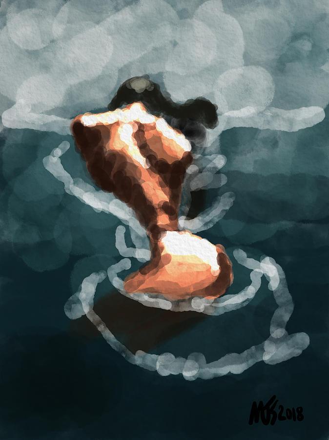 Figure Digital Art - Woman In The Water  by Michael Kallstrom