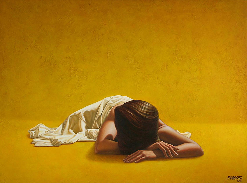 Sleeping Painting - Woman in Yellow by Horacio Cardozo