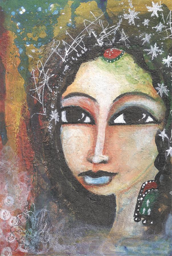 India Mixed Media - Woman - Indian by Prerna Poojara