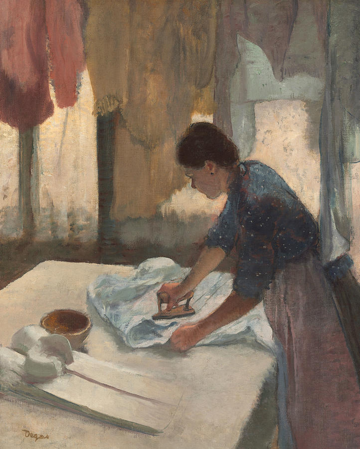 French Painters Painting - Woman Ironing by Edgar Degas